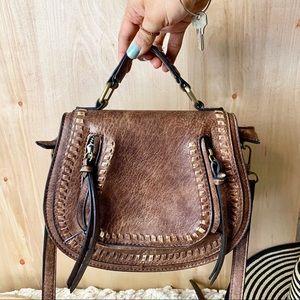 Antik Kraft ☽ Vegan Leather Crossbody Saddle Bag